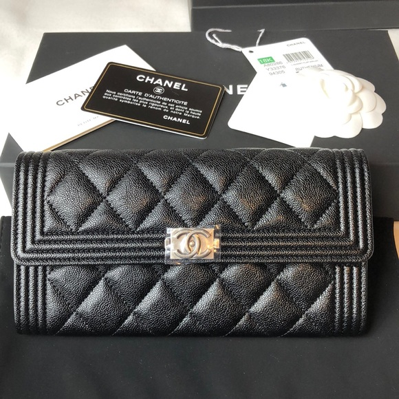 6d39e78f26c8 CHANEL Bags | Brand New Boy Long Full Flap Wallet | Poshmark
